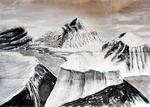 Carbon y tinta china sobre papel acuarela. 2,50 x1,50 metros. 2014